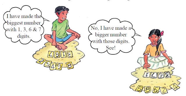 Comparing bigger numbers (Big Numbers - 5th Class)