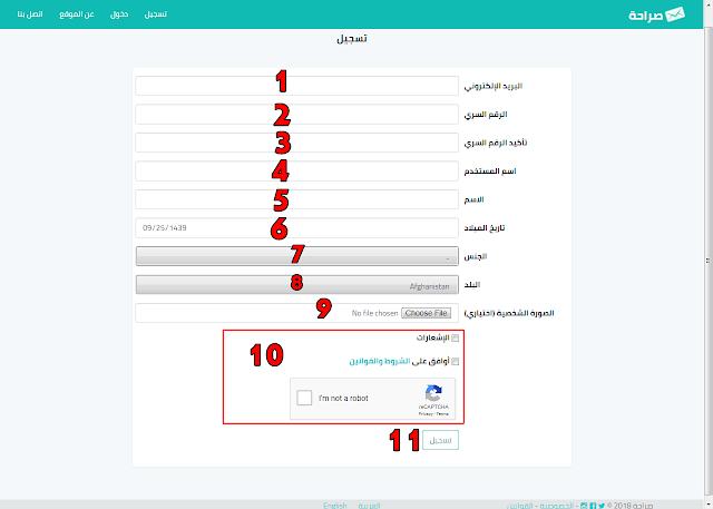 موقع صراحة تسجيل دخول saraha للرسائل المجهولة