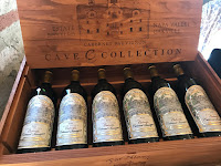 Photo of a box containing a vertical of Cabernet Sauvignon from 2009-2014 at Far Niente winery in Napa. https://trimazing.com/