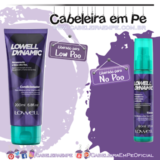 Condicionador (Low Poo) e Tônico (No Poo) Dynamic - Lowell