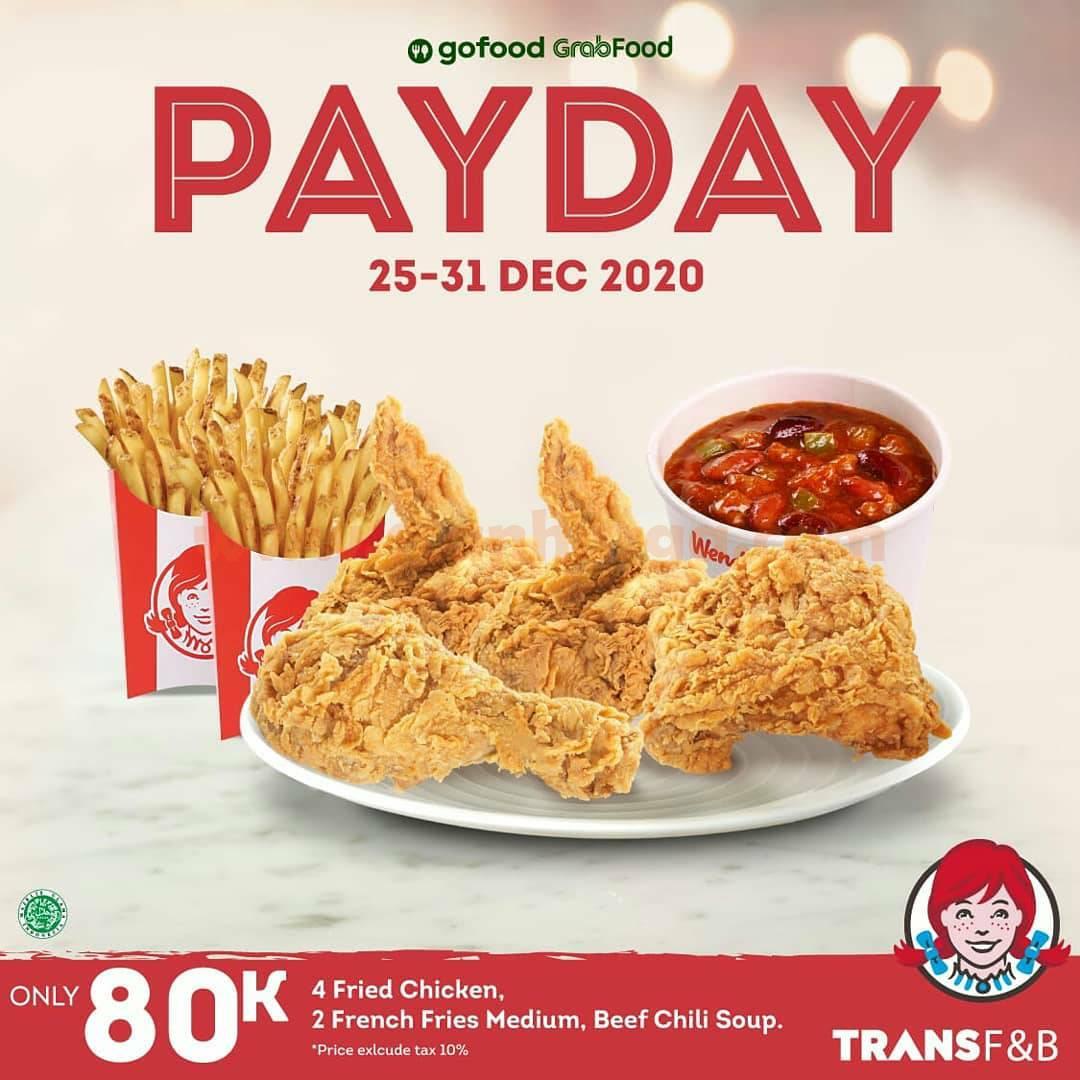 WENDY'S Promo PAYDAY –  Harga Special Paket Menu Tahun Baru Hanya Rp 80.000*