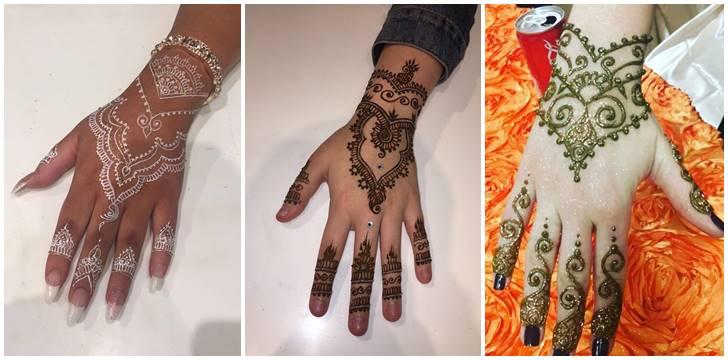 40 Gambar Tato Henna Mehndi India Di Jari Tangan Wanita Asli Cantik Dan Oke Banget