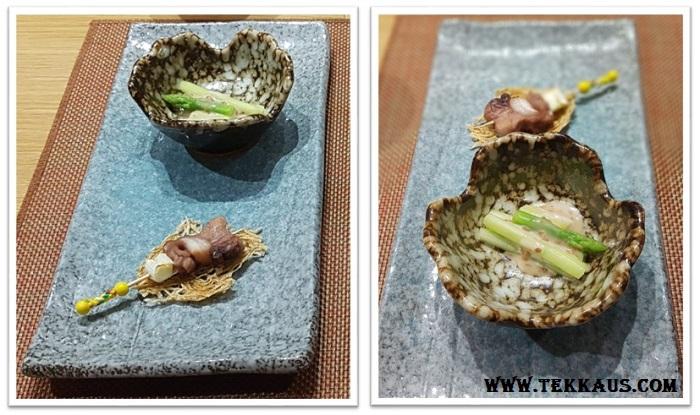 Miyabi Sheraton PJ-Boiled Asparagus Sesame Sauce