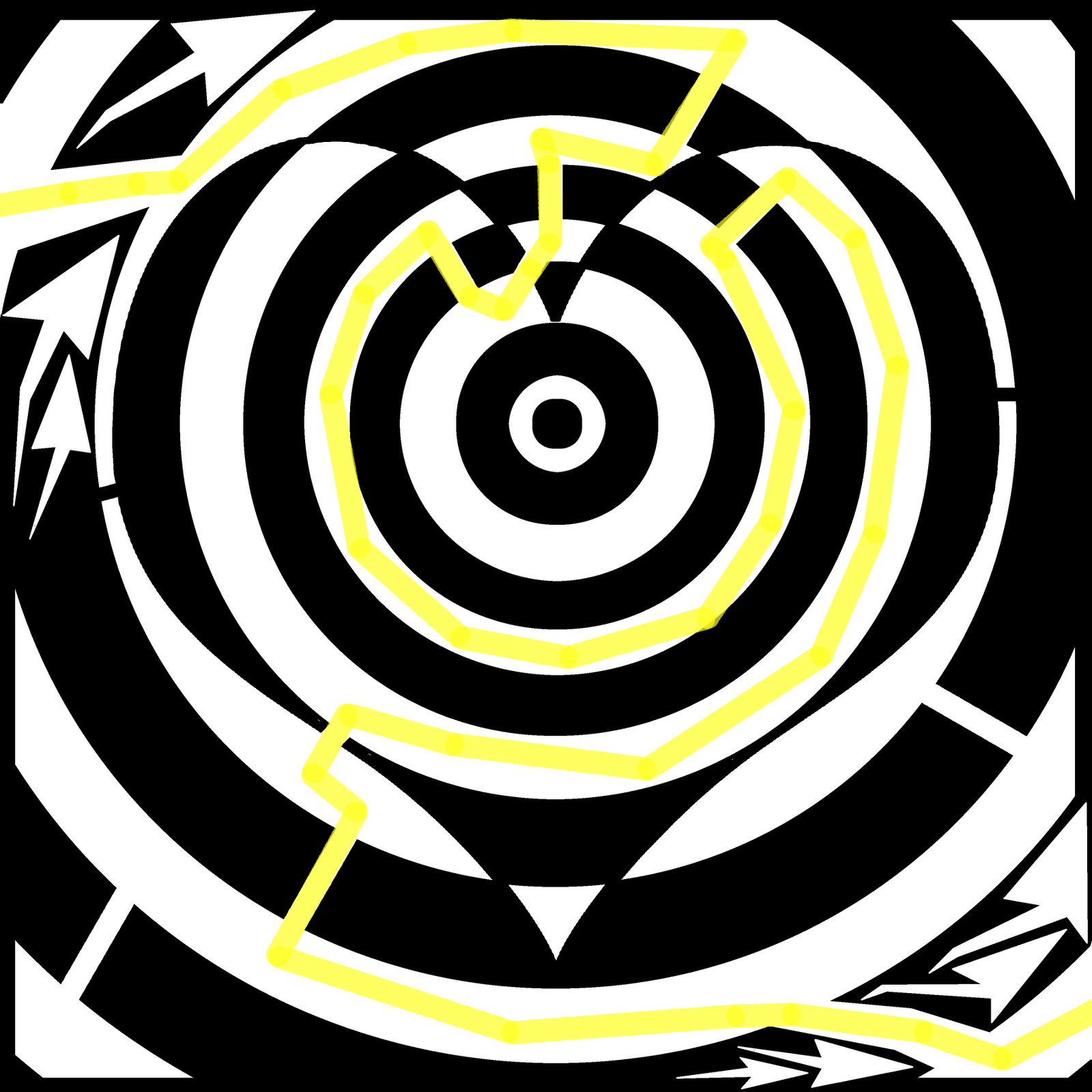 maze illusion optical mazes solution hearts dream spades