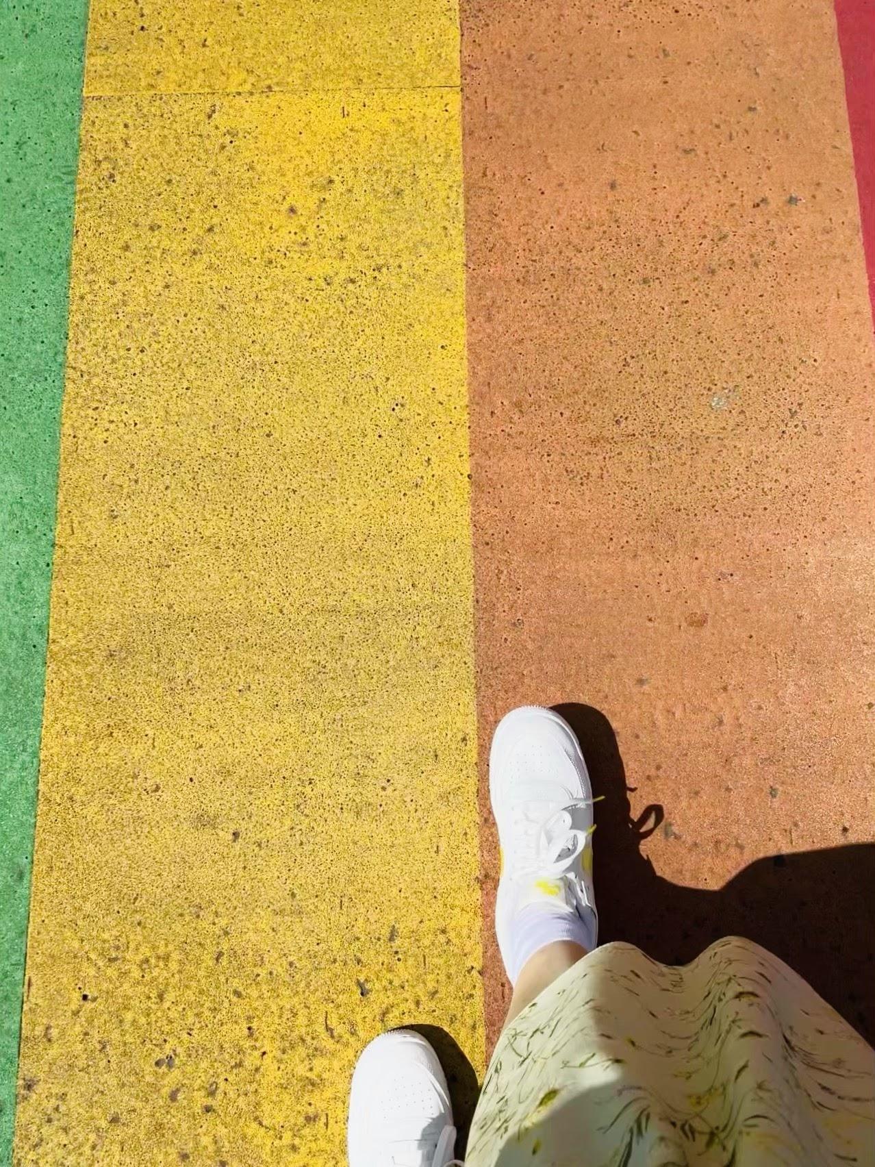 Rainbow Crossing In Camden London, UK Travel