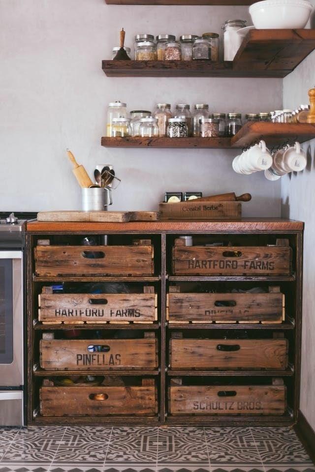Decoração de cozinha com reciclagem
