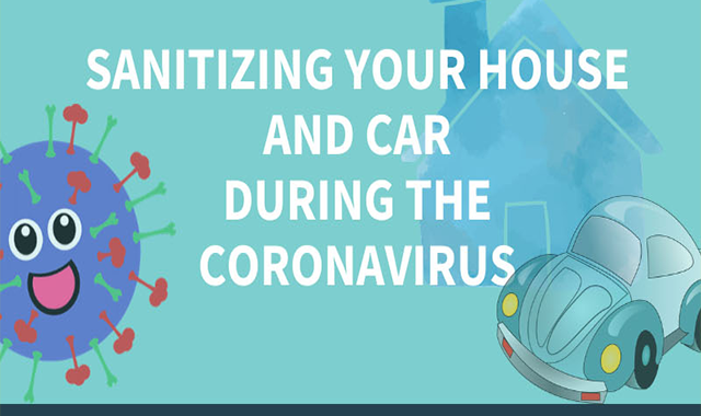 Sanitizing Your House and Car During the Coronavirus #infographic