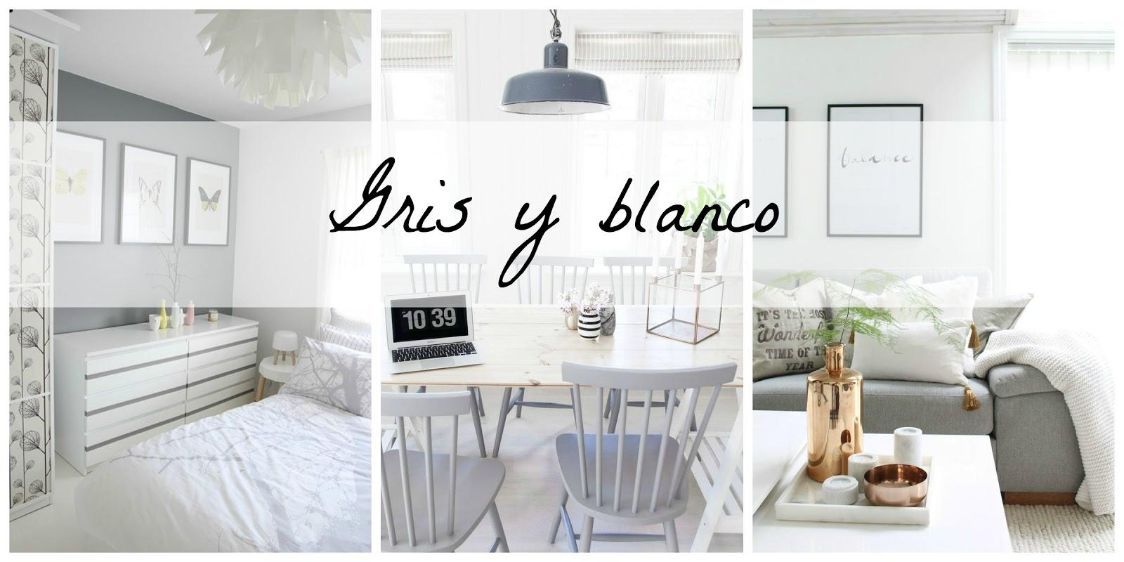 Love color decoracin en gris y blanco Blanco y de madera