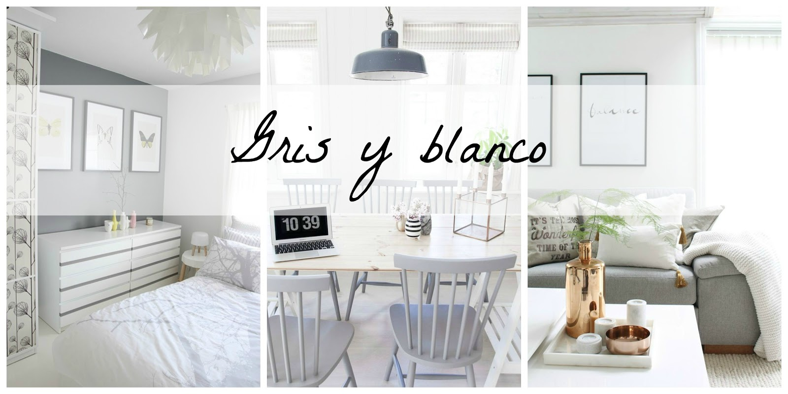 Love color decoraci n en gris y blanco blanco y de madera for Decoracion blanco y gris