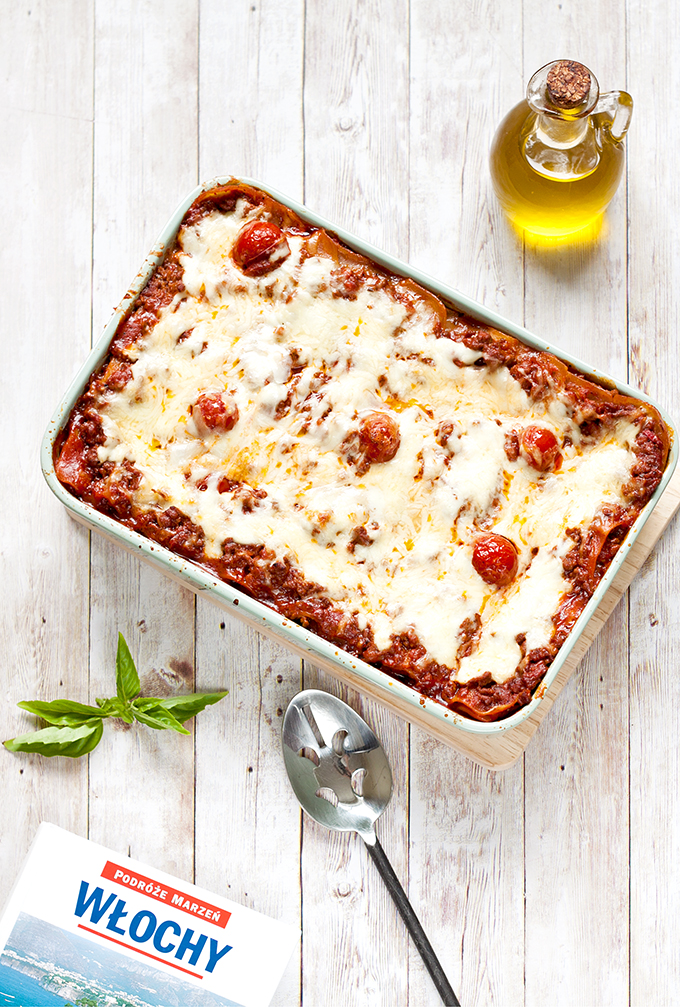Lazania, czyli włoska zapiekanka makaronowa z mięsem mielonym
