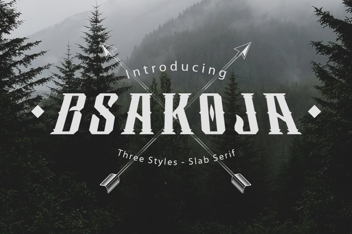 Bsakoja Font - Free Modern Slab Serif Typeface