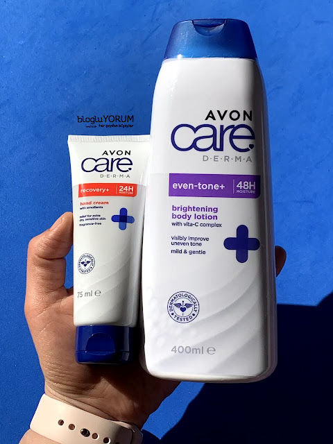 avon care derma recovery el kremi avon care derma even tone vücut losyonu kullananlar