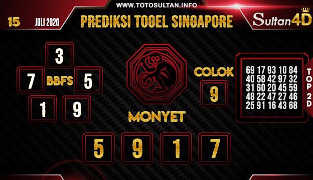 PREDIKSI TOGEL SINGAPORE SULTAN4D 15 JULI 2020