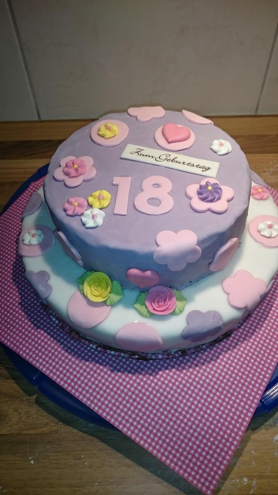 Fadenspiel Geburtstagstorte 18 Geburtstag