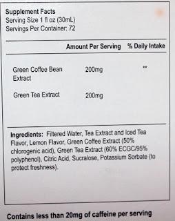 De-Carb GCX Coffee Bean & Green Tea Extracts