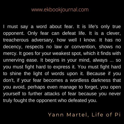 Yann Martel | Life of Pi | English Quote