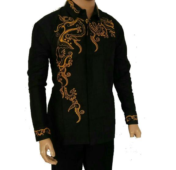 Baju Batik Kombinasi Batik: 10 Model Baju Batik Pria Lengan Panjang Kombinasi Kain