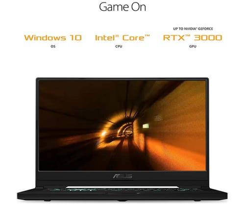 ASUS TUF516PE-AB73 TUF Dash 15 2021 Ultra Slim Gaming Laptop