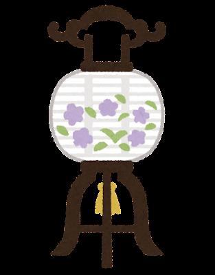 盆提灯のイラスト(置き型)