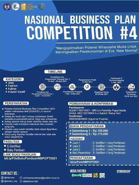 NATIONAL BUSINESS PLAN COMPETITION #4 2021