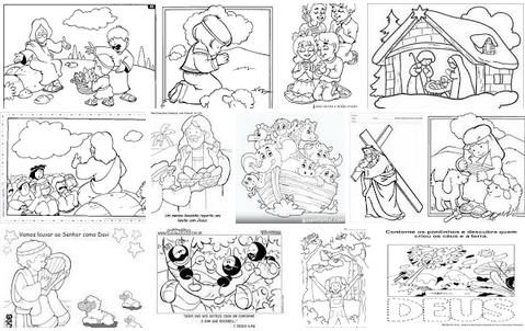 Desenho Biblico Infantil Para Colorir Como Fazer