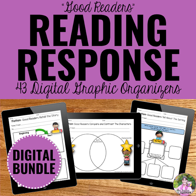 Digital Reading Response Graphic Organizers