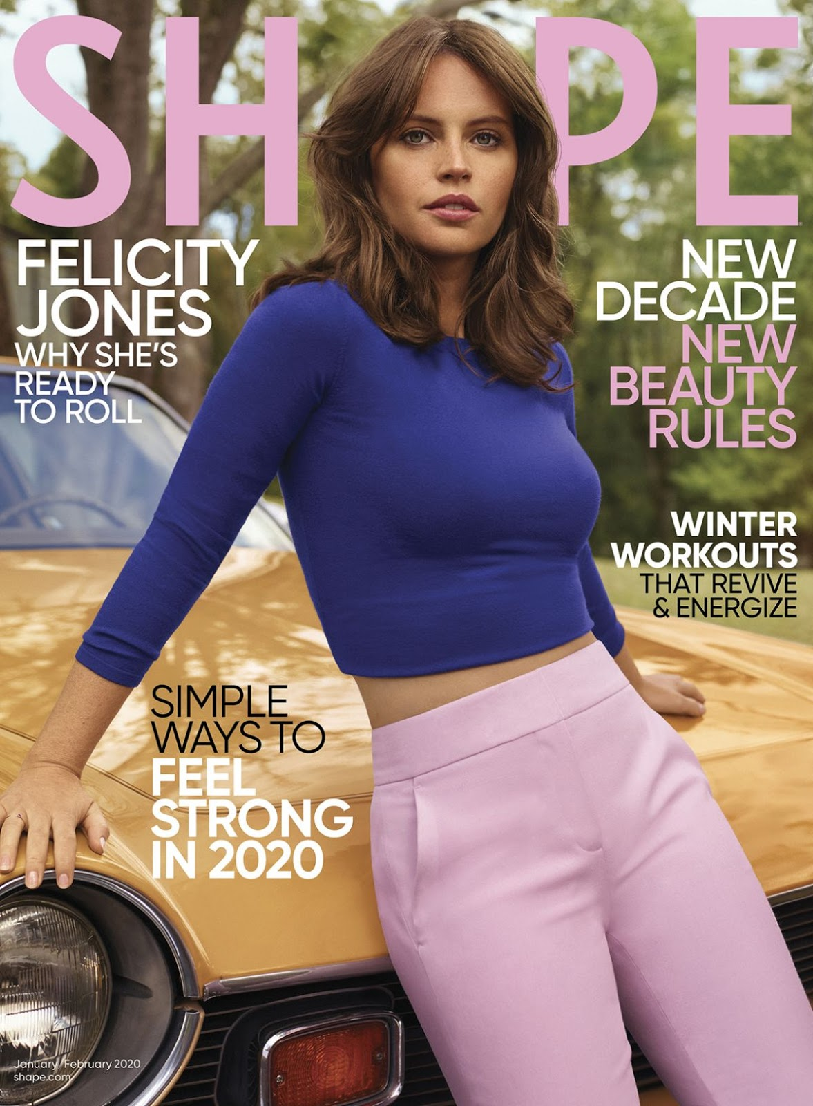 Felicity Jones – Shape Magazine US by Thomas Whiteside January February 2020