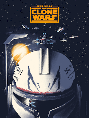 Star Wars The Clone Wars Screen Print by Lyndon Willoughby x Bottleneck Gallery