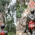 """Vándalos mancillan la estatua de Miguel de Cervantes y escriben """"bastardo"""""""