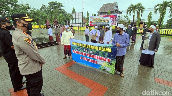 Datangi Polres Sukabumi, Puluhan Ulama Palabuhanratu Minta HRS Dibebaskan