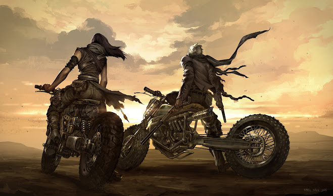 Wasteland Bikers -  Illustration Kael Ngu