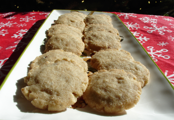 Mystery Lovers' Kitchen: Cinnamon Pecan Shortbread