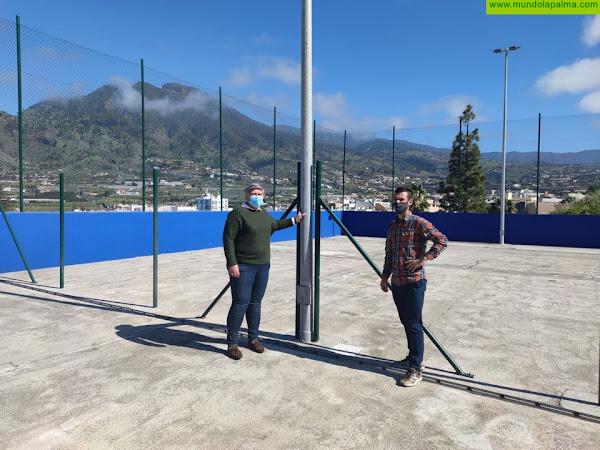 Las canchas de tenis de Los Llanos de Aridane a punto de finalizar la primera fase