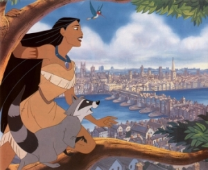 Pocahontas with Flit and Meeko Pocahontas II: Journey to a New World 1998 animatedfilmreviews.filminspector.com