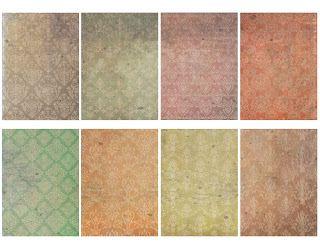 atc cards collage lace romantic wedding grunge digital clipart
