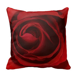 Romantic home decor accent throw pillow