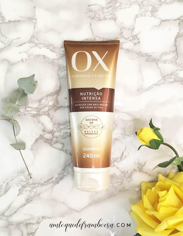 Resenha sobre o shampoo da linha Ox Nutrição Intensa