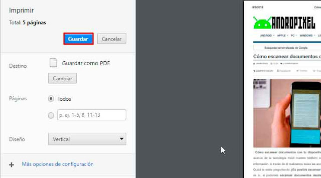 Guardar nuestro archivo convertido a PDF