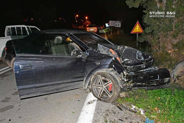 Σφοδρή πρόσκρουση αυτοκινήτου σε δέντρο στο Ναύπλιο - Τραυματίας ο οδηγός