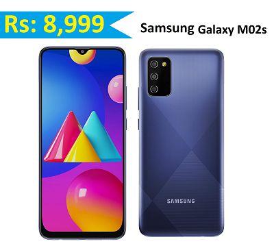 Samsung Galaxy M02s (Blue,3GB RAM, 32GB Storage)
