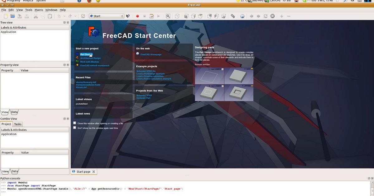 FreeCAD tutorial: Engine: 1 - piston pin and pin ring