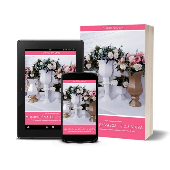 como fazer molde para vaso de casamento