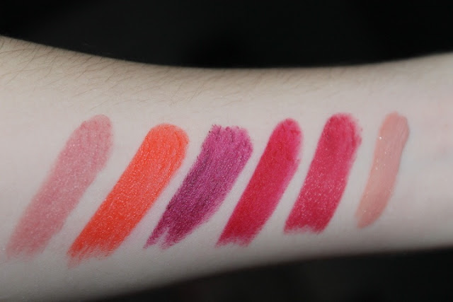 Ma collection de rouge à lèvre - Paillettes et rose poudré