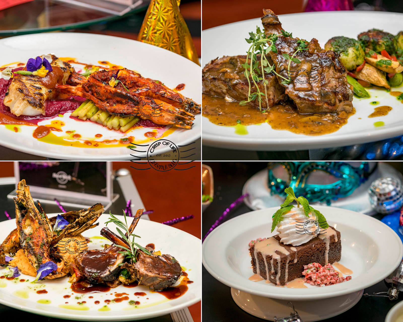 New Year Eve 4-Course Set Dinner at Hard Rock Cafe Penang