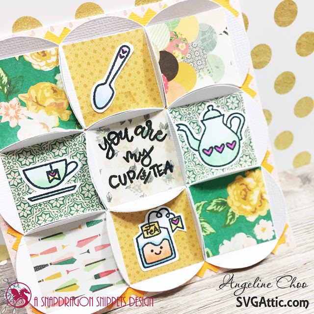 ScrappyScrappy: You are my cup of Tea with SVG Attic #scrappyscrappy #svgattic #sweetstampshop #cratepaper #openbook #card #patchcard #cardmaking #copic #coloring #teatime