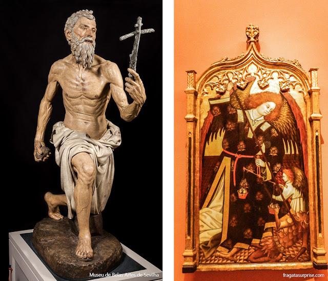 São Jerônimo, de Torrigiano e São Miguel Arcanjo, Museu de Belas Artes de Sevilha
