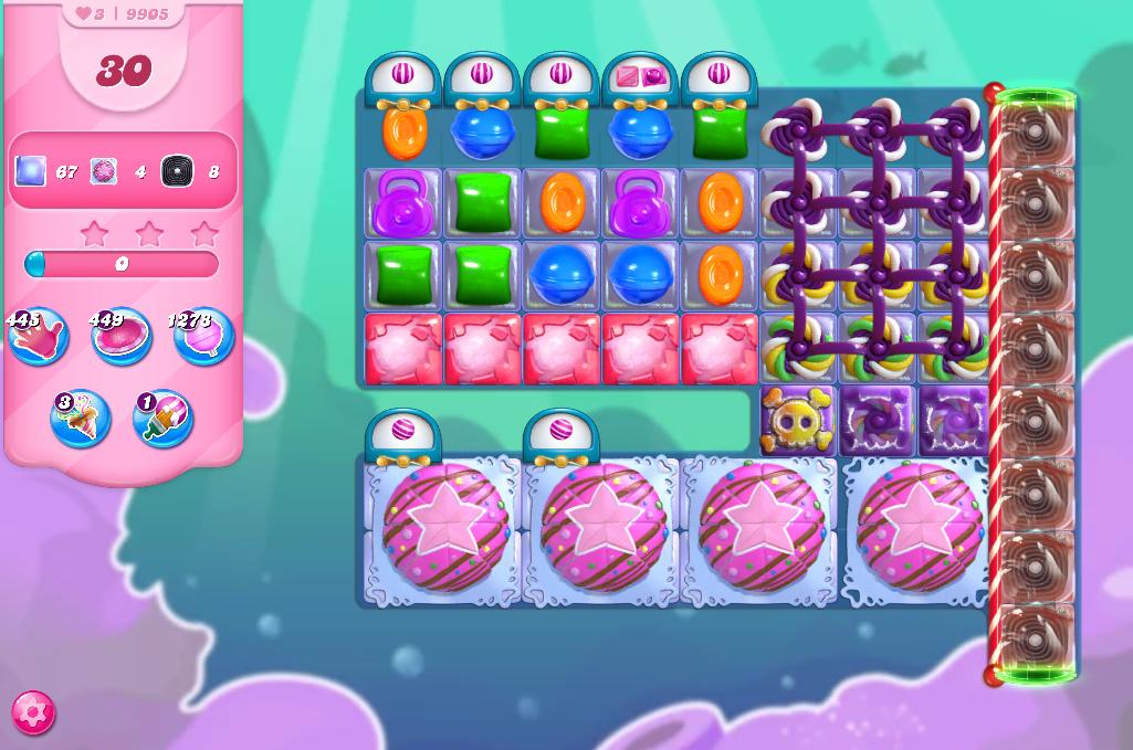 Candy Crush Saga level 9905