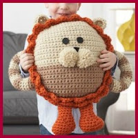 Cojín León a crochet