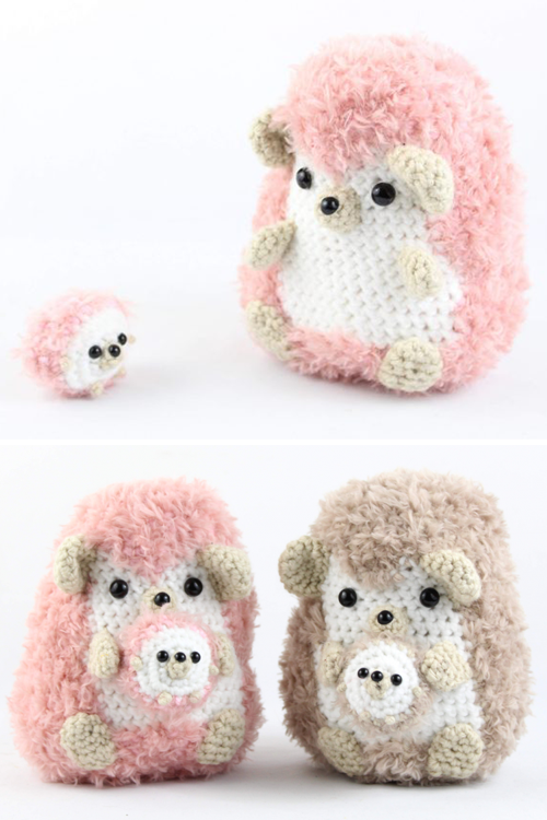 Hedgehog with Baby Amigurumi - Free Crochet Pattern