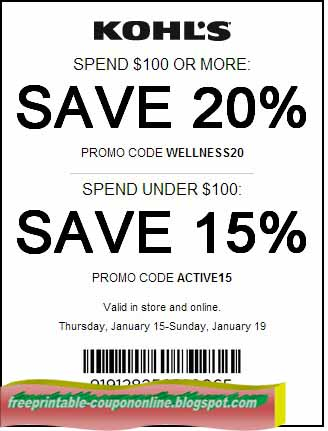 photo relating to Kohls Coupons Printable referred to as Printable Coupon codes 2019: Kohls Discount coupons